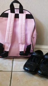 reception school bag shoes