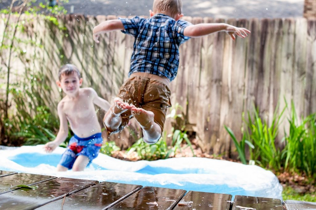 school holidays paddling pool