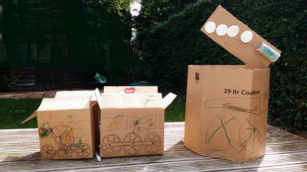 Activities Cardboard Train