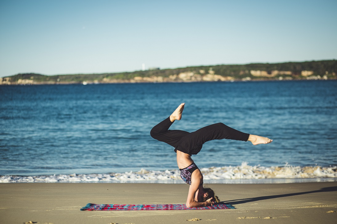 failure handstand beach