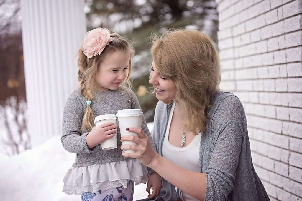 Young Mum Drinking Coffee