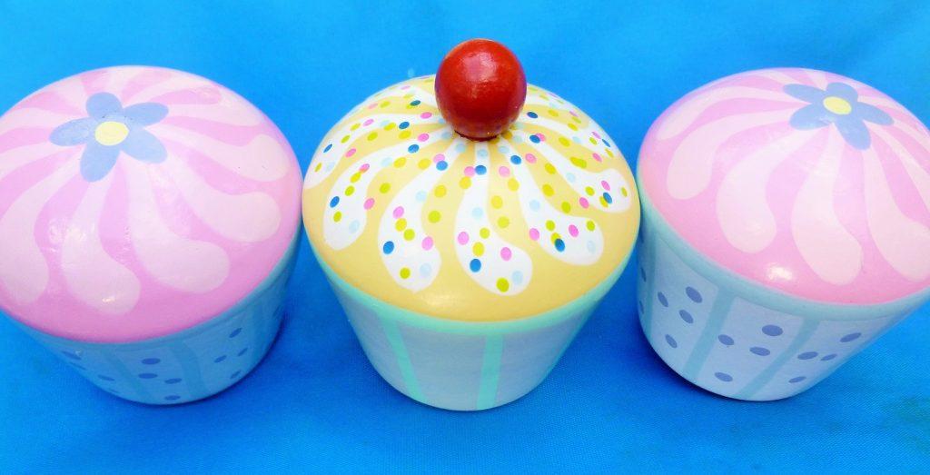 Orange Tree Toys Three Wooden Cupcakes