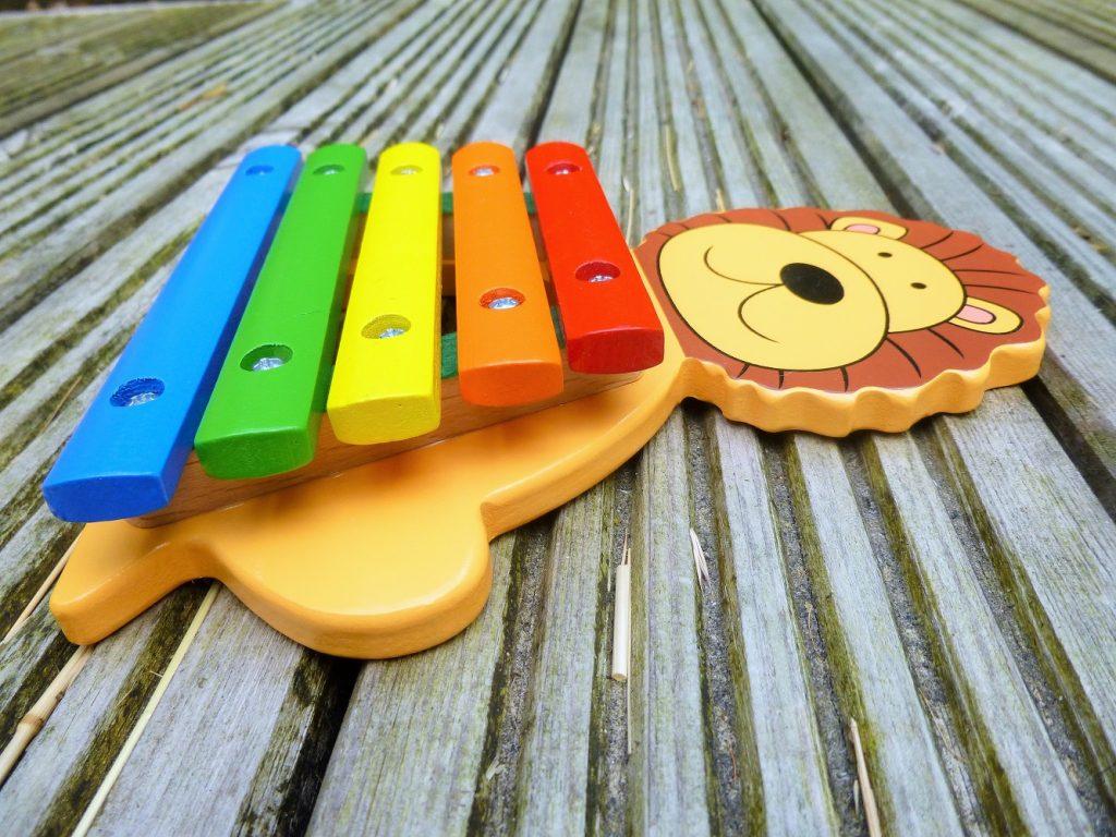 Orange Tree Toys Xylophone Side View