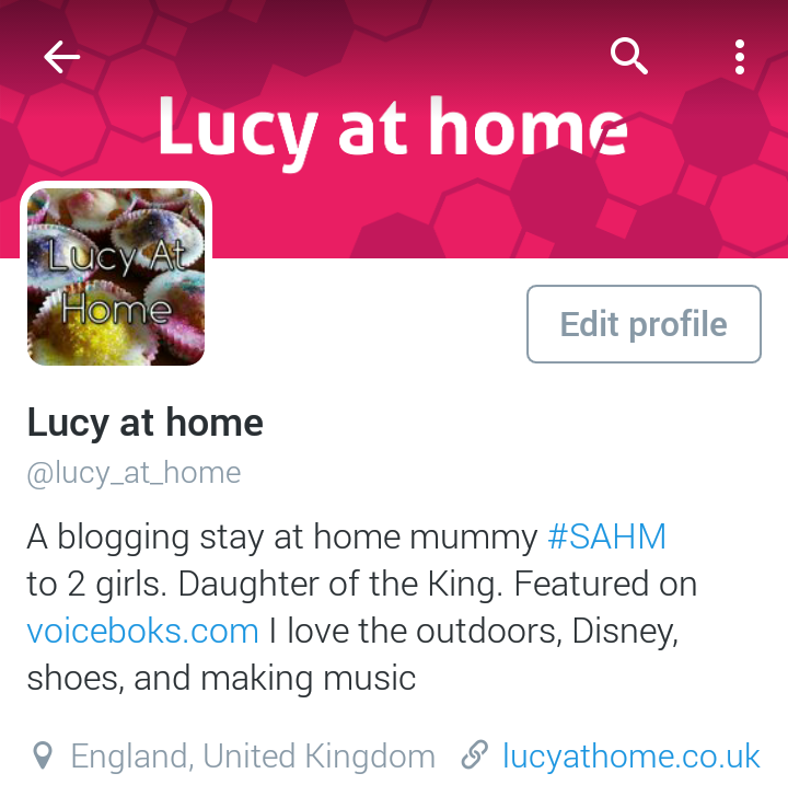 twitter lucy at home account