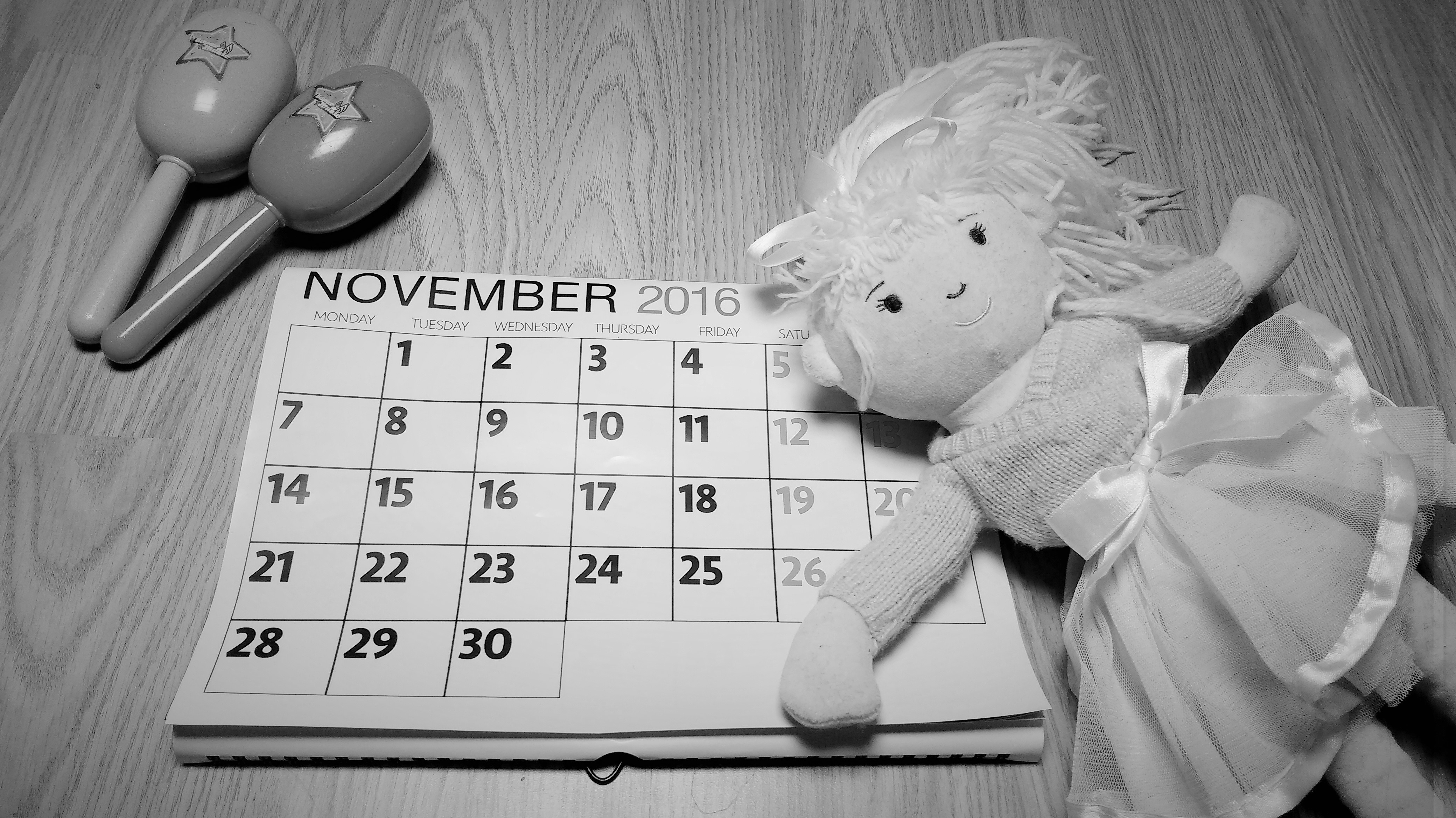 To My Grown Up Children, Don't forget me - black and white calendar - BlogCrush Week 65