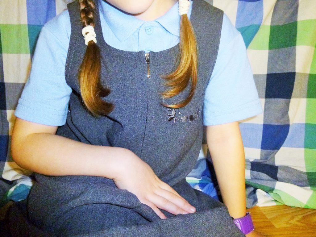 Trutex School Uniforms Dress Sat On Floor