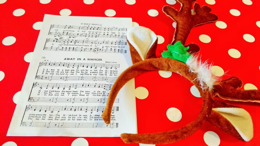 christmas songs reindeer antlers away in a manger