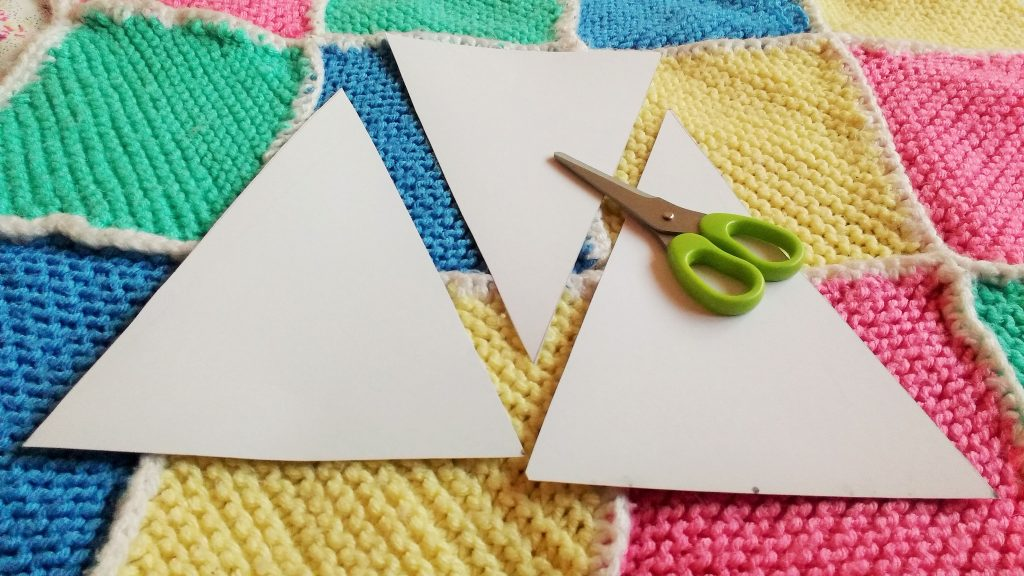 bunting scissors card triangles