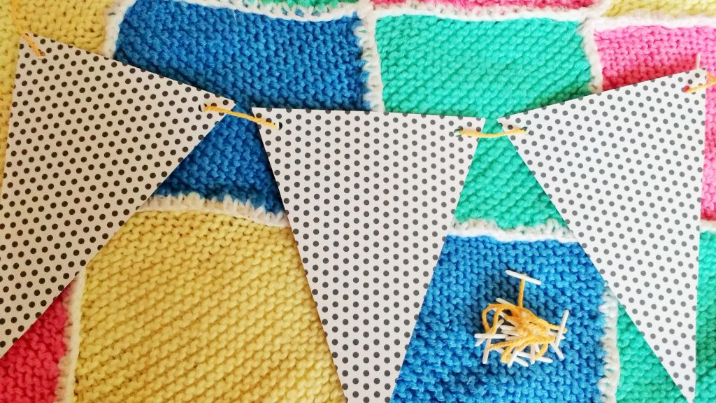budget bunting card craft party