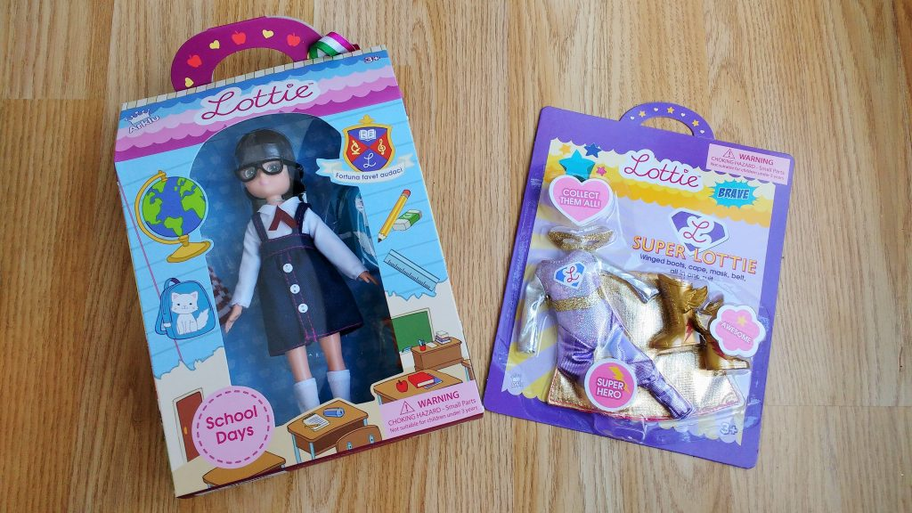 Lottie Doll Superhero outfit packaging