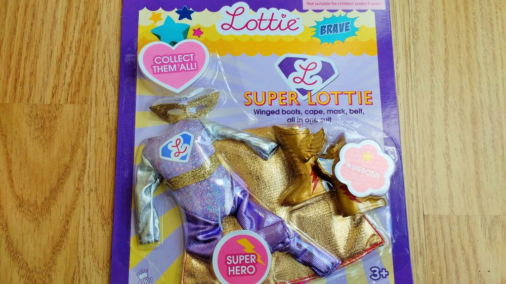 Lottie doll superhero costume packaging