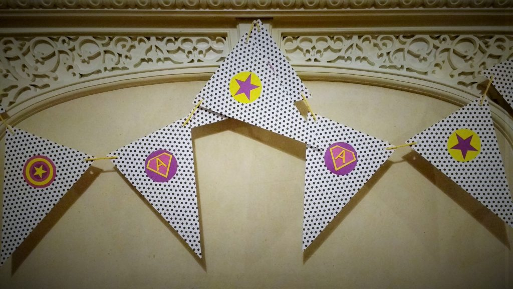 superhero party bunting emblems star