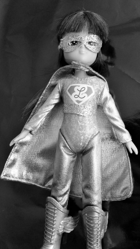 Lottie Doll Superhero black and white