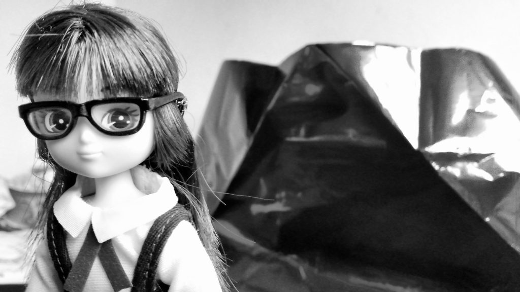 Lottie Doll School Girl Black and White