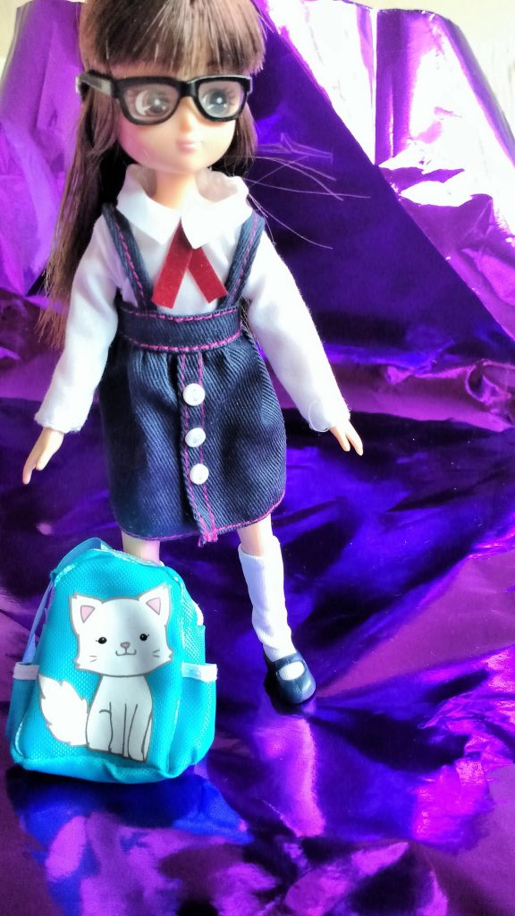 Lottie Doll School Girl Rucksack Uniform