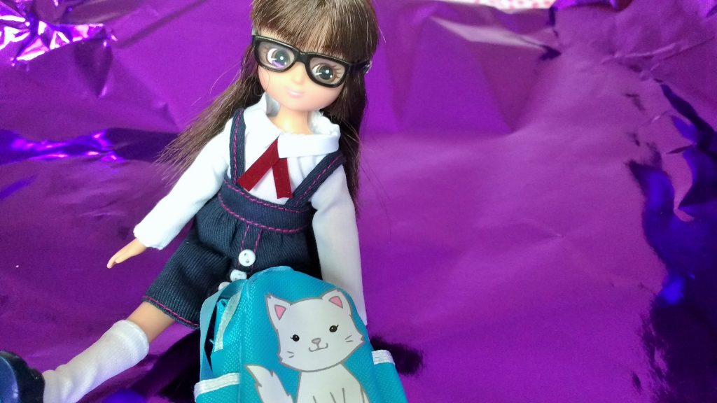 Lottie Doll School Uniform Sitting Backpack