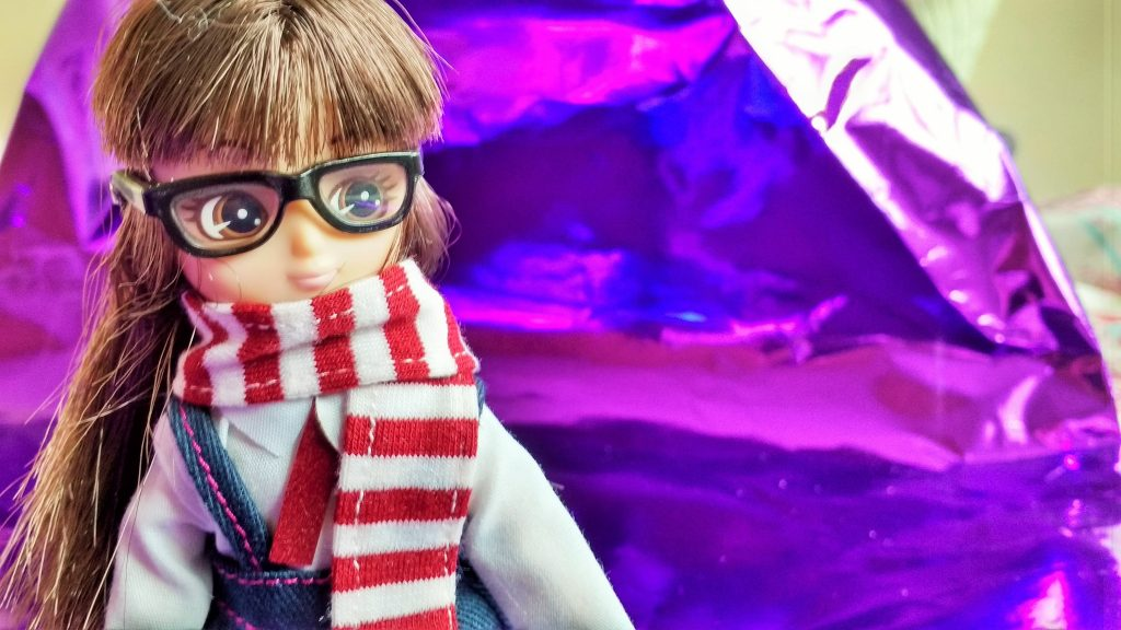 Lottie Doll School Girl Glasses Scarf competition #blogcrush