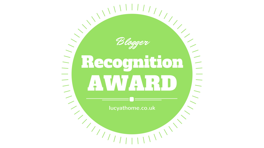 We've Been Given The Blogger Recognition Award!