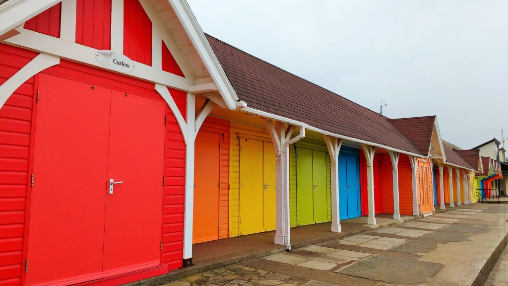 scarborough colourful beach huts