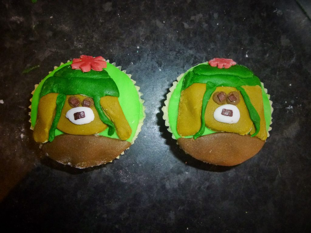 Cbeebies Peter Rabbit Benjamin Bunny cupcake