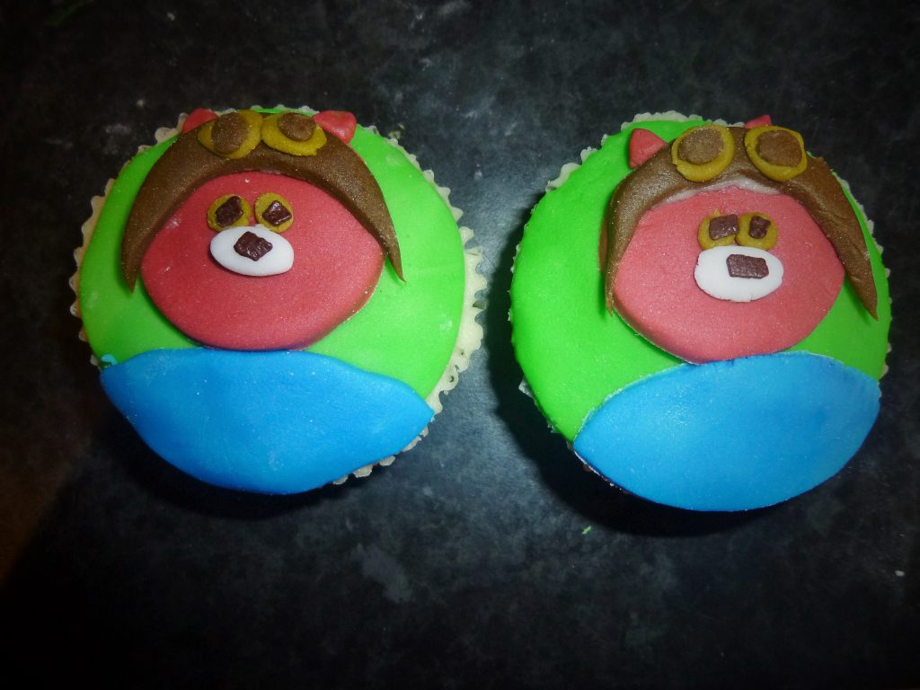 Cbeebies Peter Rabbit Squirrel Nutkin cupcake