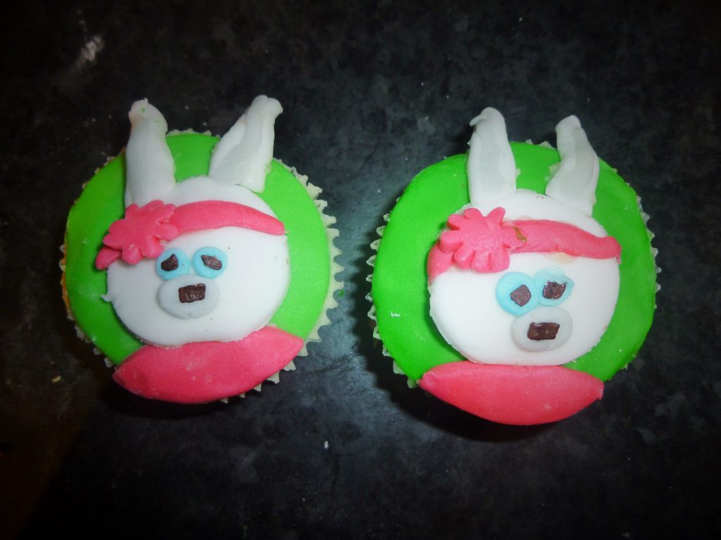 Cbeebies Peter Rabbit Lily Bobtail cupcake