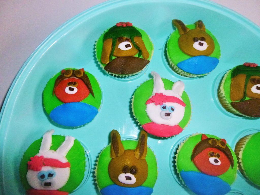 CBeebies Peter Rabbit Characters Cupcakes all