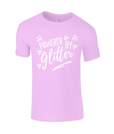 Powered by glitter kid's tee (other colours available)