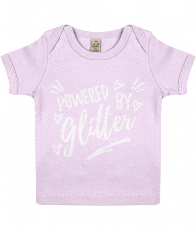 Powered by Glitter baby Tee (other colours available)