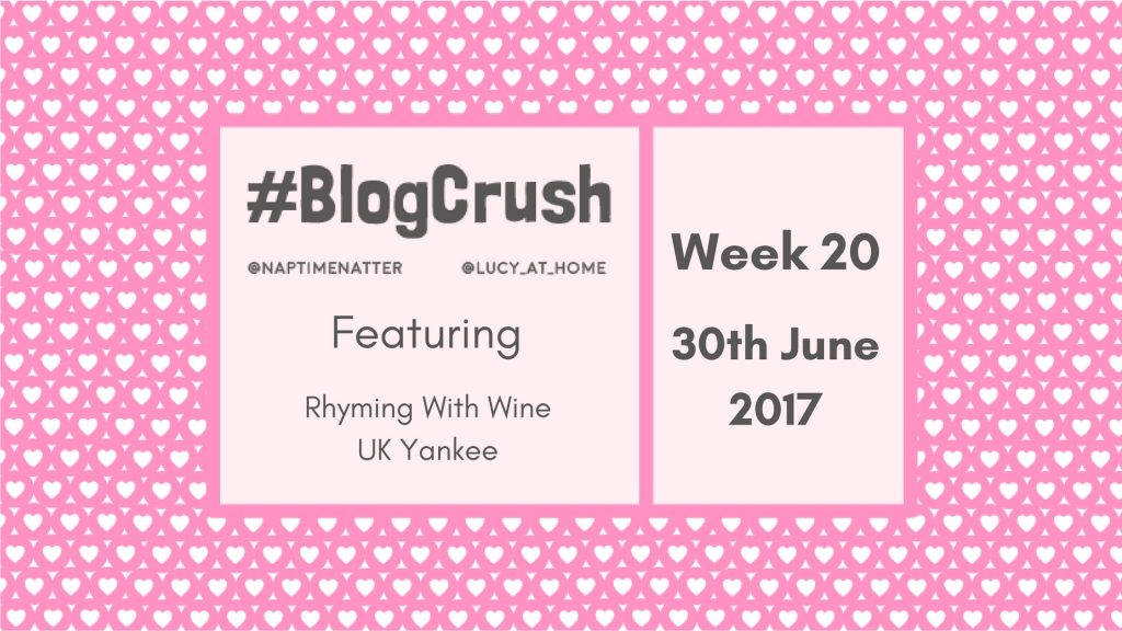 Blogcrush Week 20 – 30 June 2017