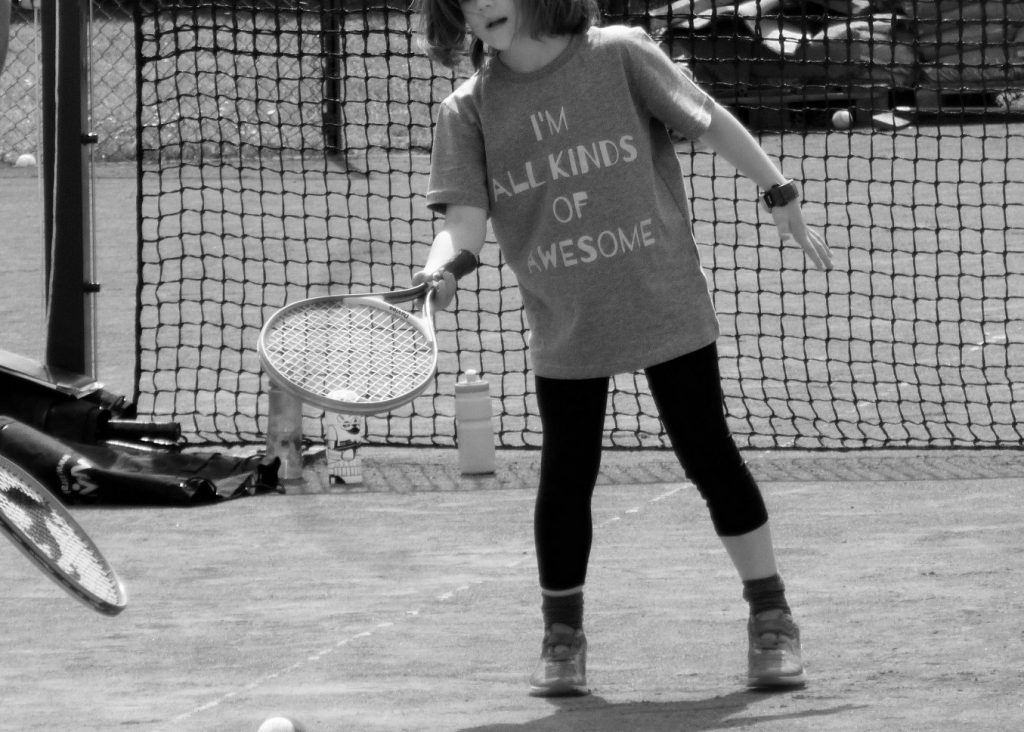 All Kinds Of Awesome I'm More Tennis black and white
