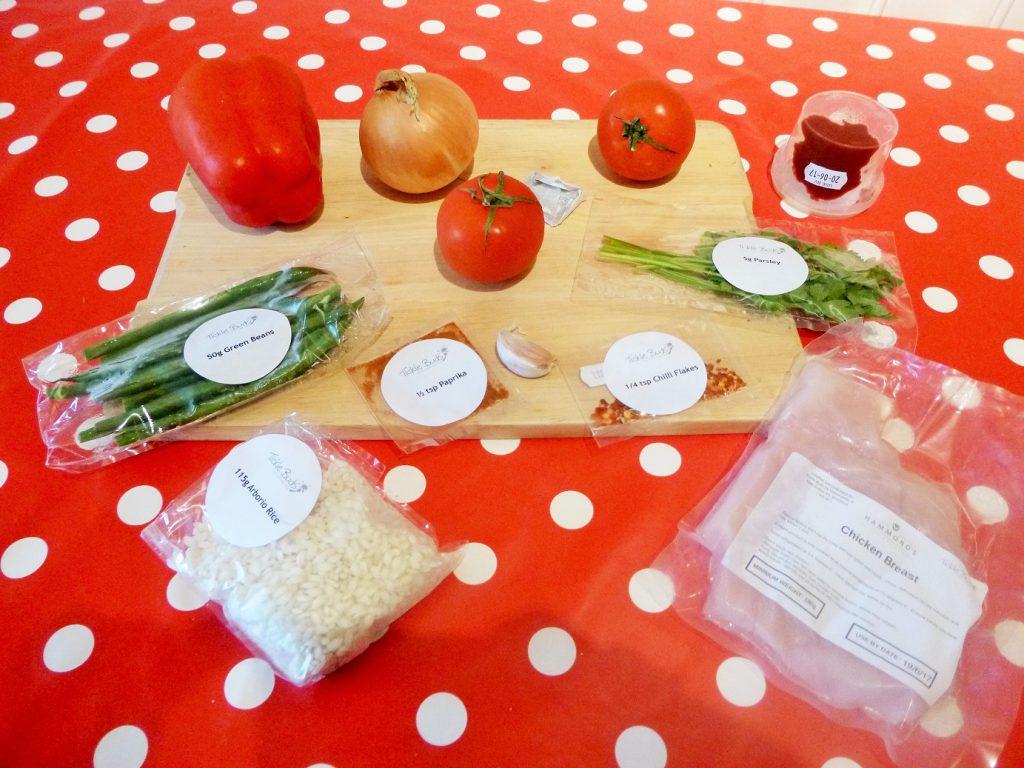 ticklebuds ingredients for chicken paella