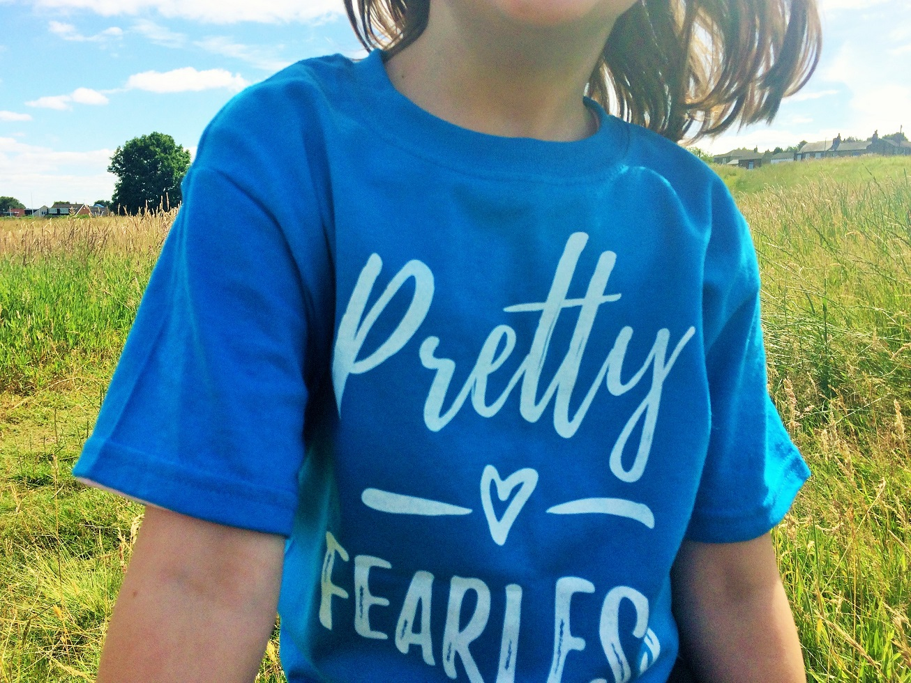 Lucy At Home T-Shirt Pretty Fearless Sapphire Top Half