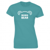 Lucy At Home Women's T-Shirt Mama Bear Antique Sapphire