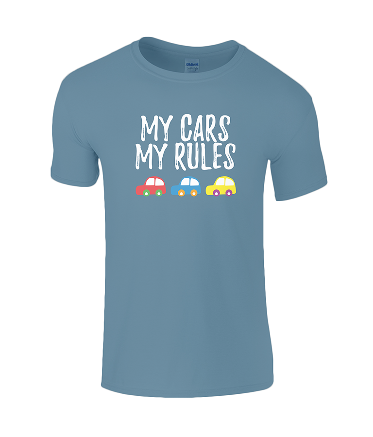 Lucy At Home T-Shirt My Cars My Rules Indigo