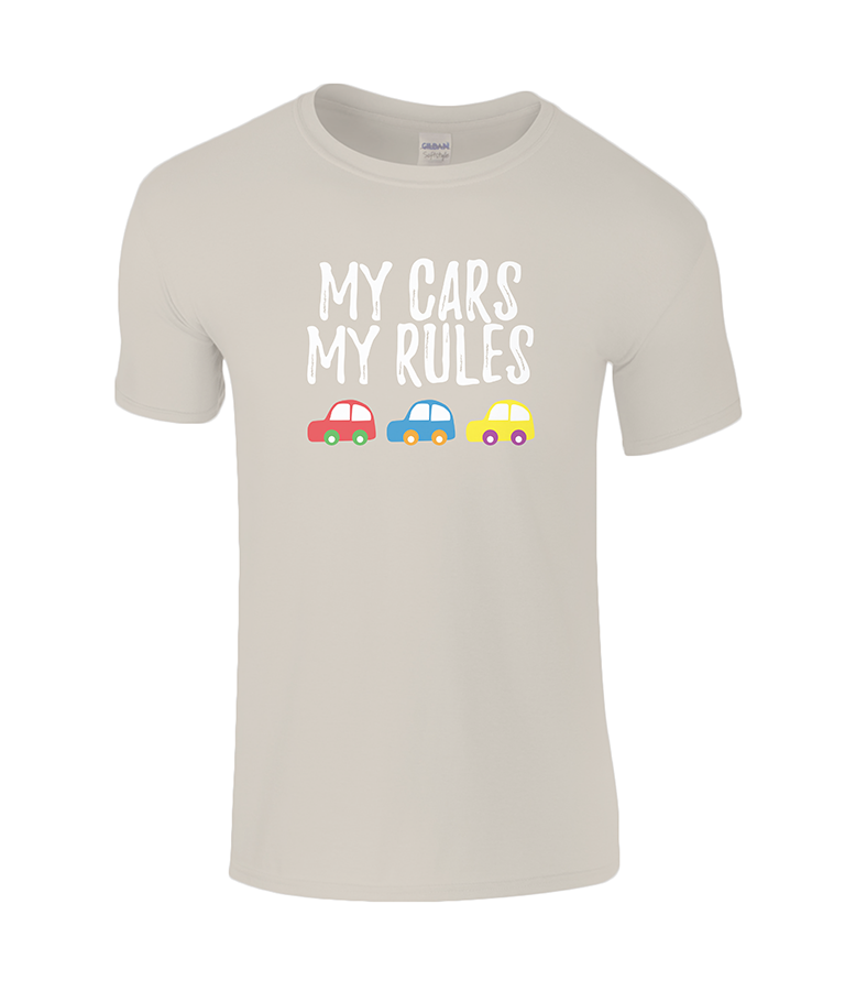 Lucy At Home T-Shirt My Cars My Rules Sand