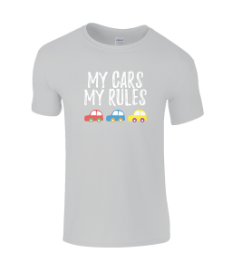 Lucy At Home T-Shirt My Cars My Rules Sports Grey What2Buy4Kids
