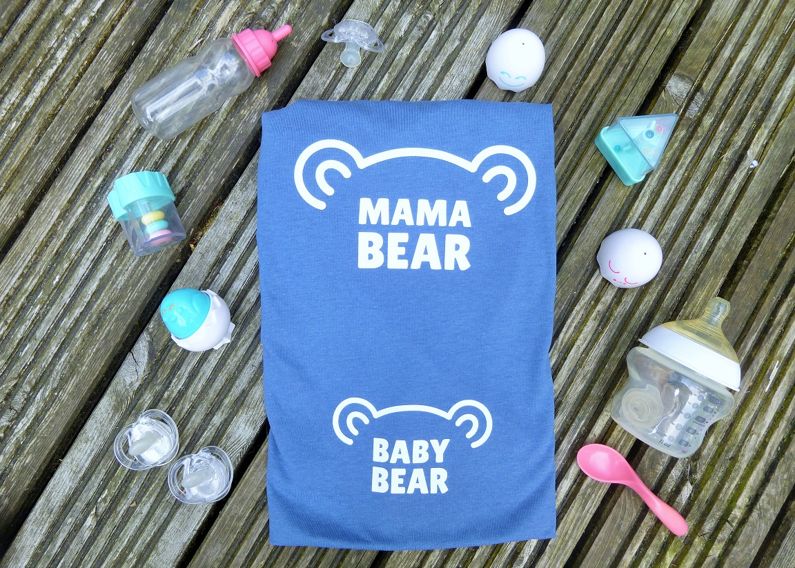 Lucy At Home T-Shirt Mama Bear Baby Bear Maternity
