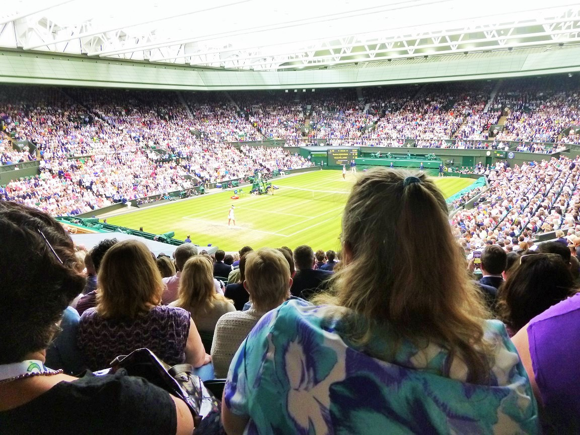 Wimbledon Centre Court Roof On