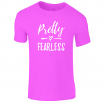 Lucy At Home T-Shirt Pretty Fearless Heliconia
