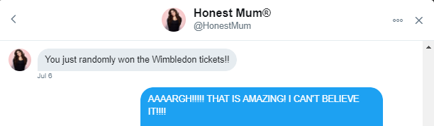 Wimbledon Tweet From Honest Mum