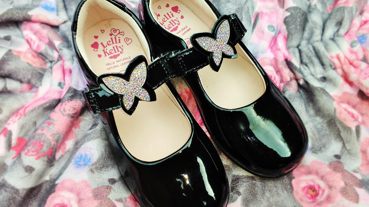 Jake School Shoes Patent Leather Butterfly