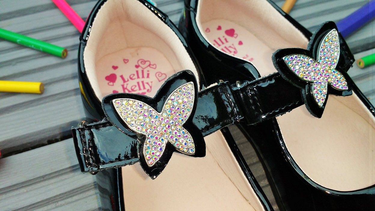 Jake School Shoes Sparkly Butterfly Lelli Kelly