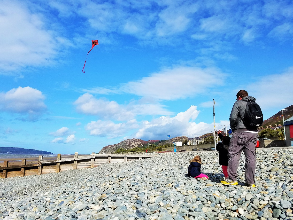 School Holidays Child Flying Red Kite - blogcrush week 99