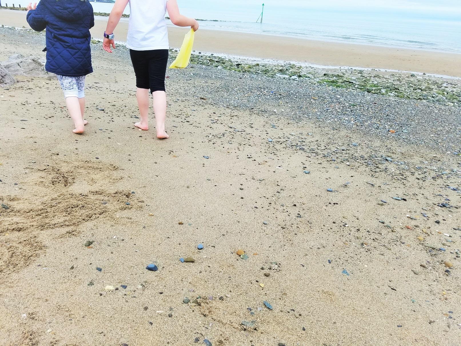 School Holidays Collecting Shells Beach