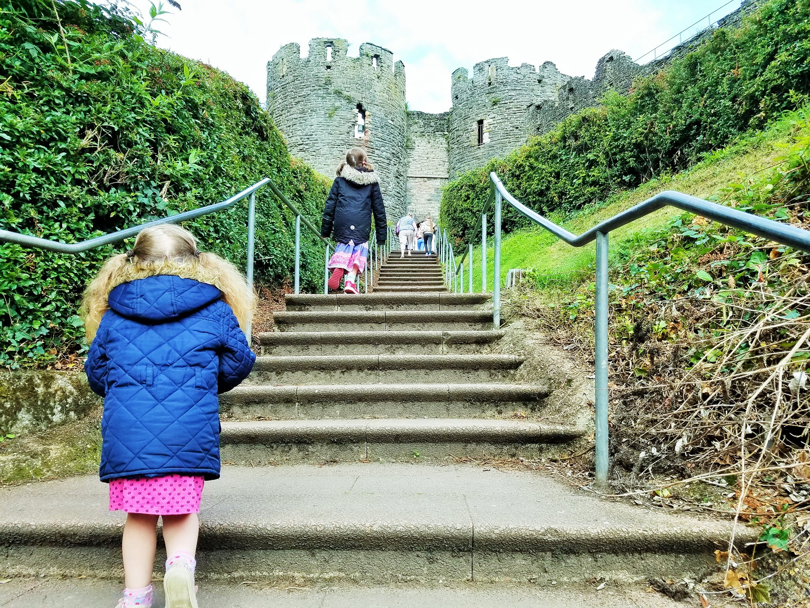School Holidays Conwy Castle Steps