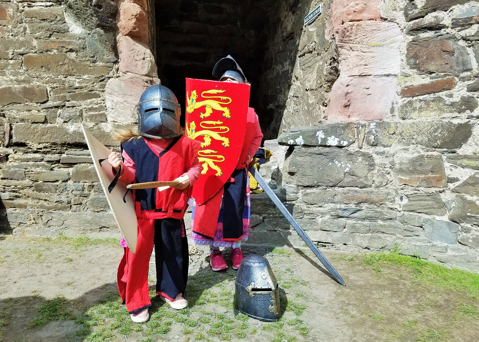School Holidays Dressing Up Conwy Castle North Wales