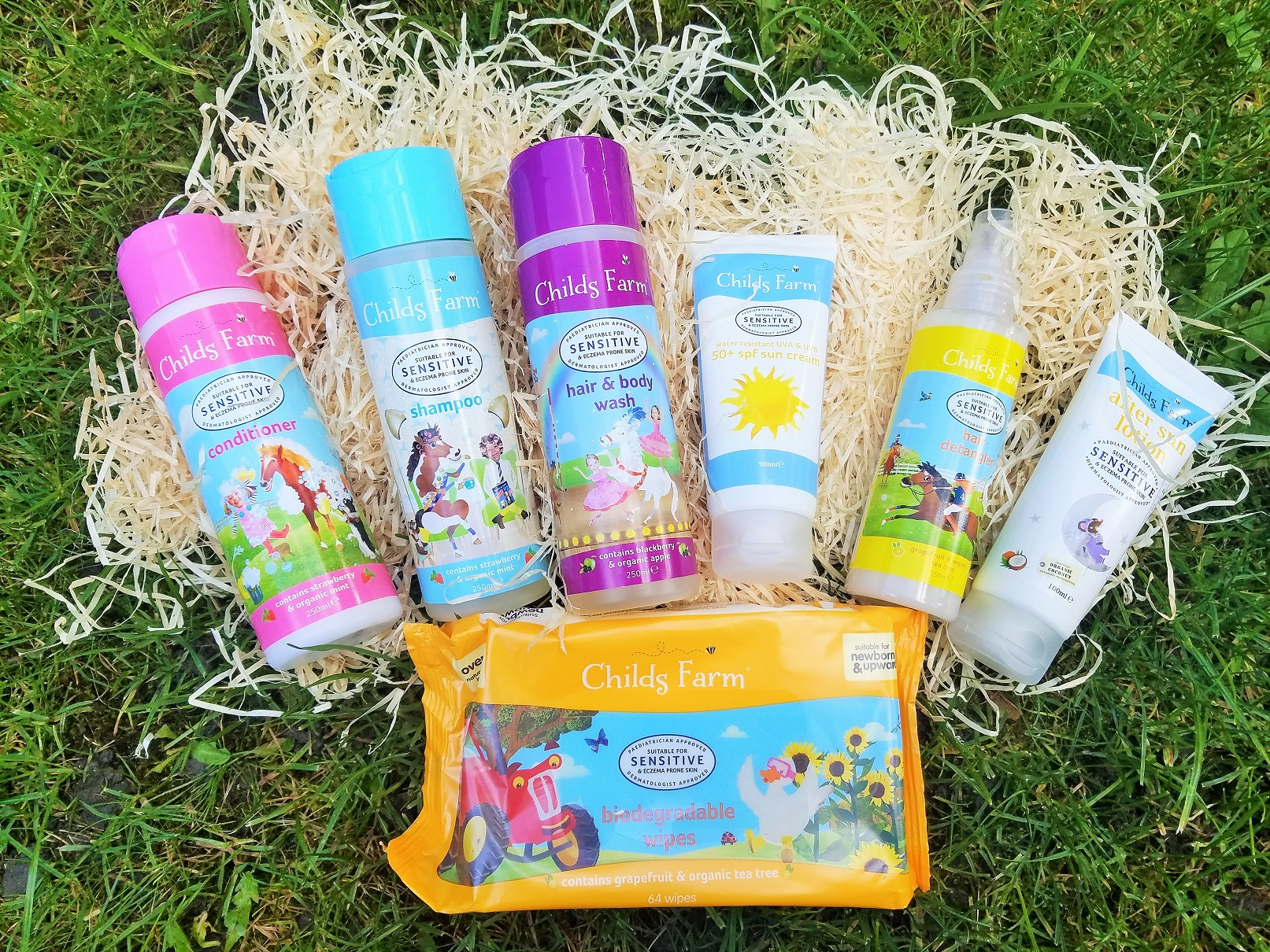 Childs Farm skin care and hair care products on hay blogcrush week 32