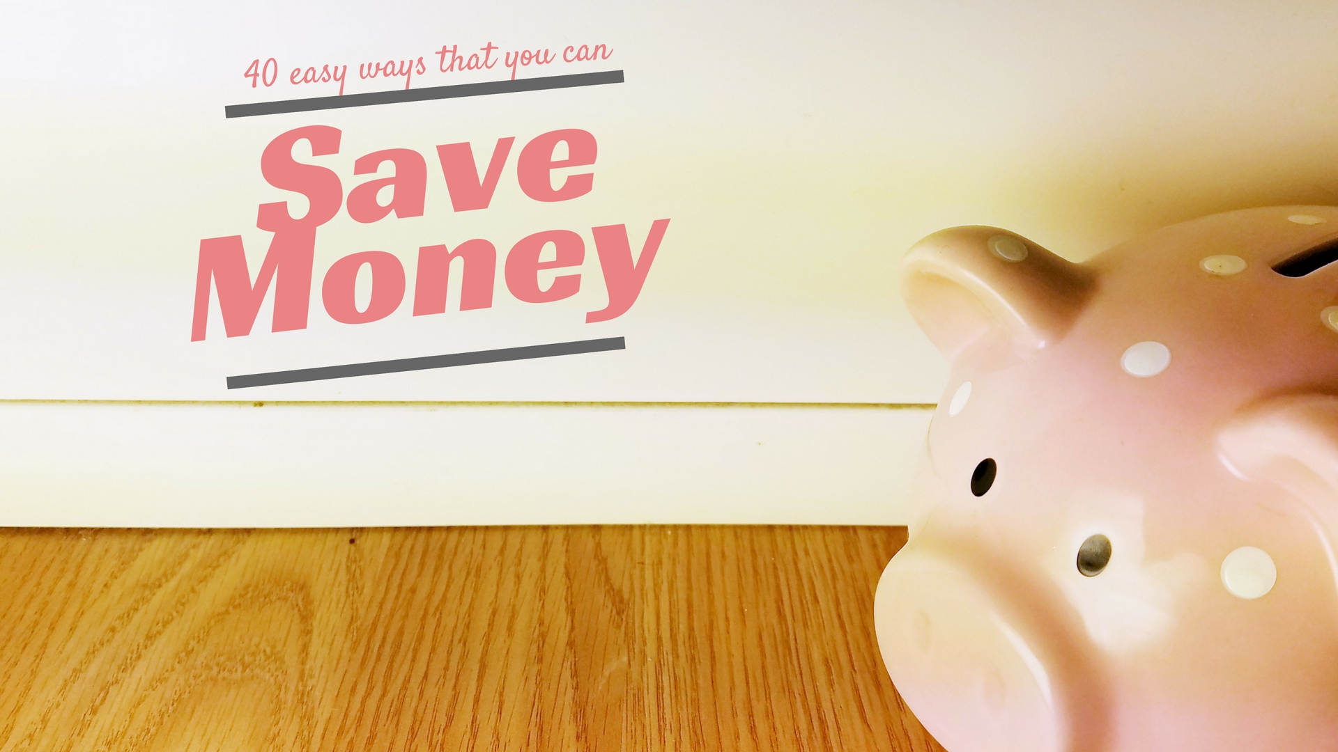 Money-saving piggy bank header