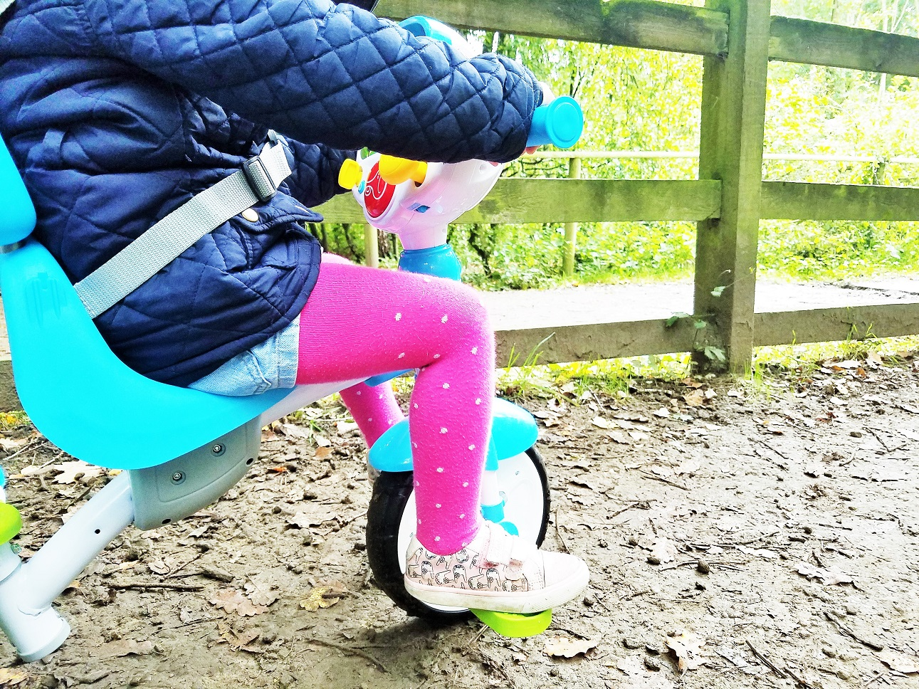 Vtech 5-in1 trike copes well in the mud